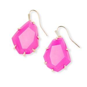 Kendra Scott Rosenell Drop Earrings in Pink Agate